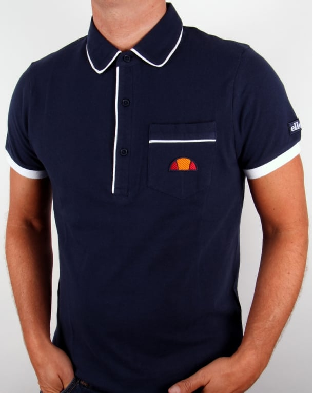Ellesse Parma Polo Shirt Navy