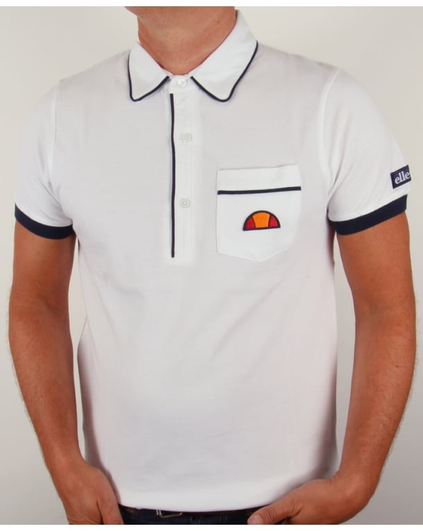 Ellesse Parma Polo Shirt White