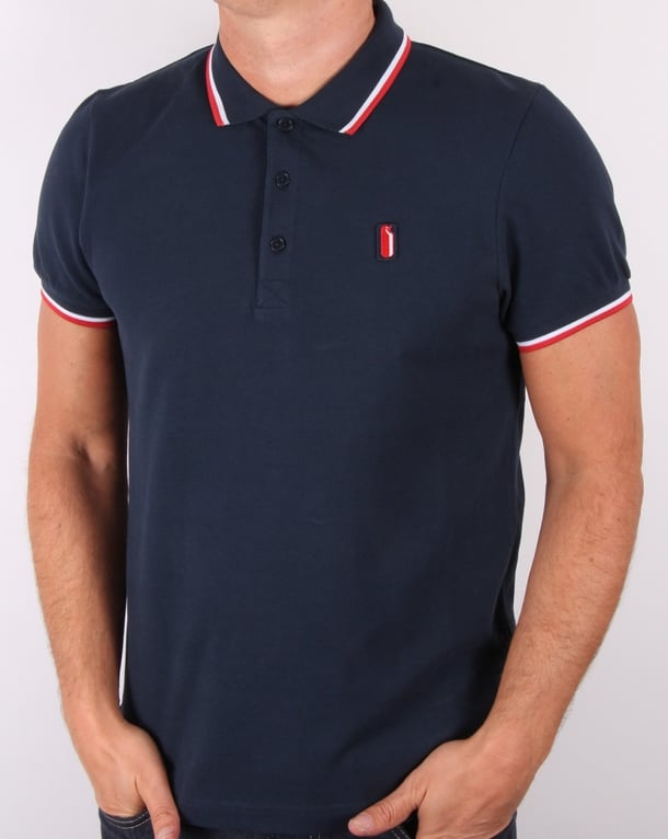 Ellesse Penguin Avalanche Tipped Polo Shirt Navy