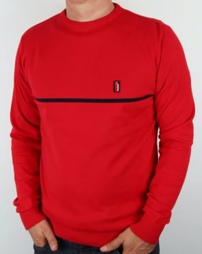 Ellesse Penguin Bormio Cotton Jumper Red