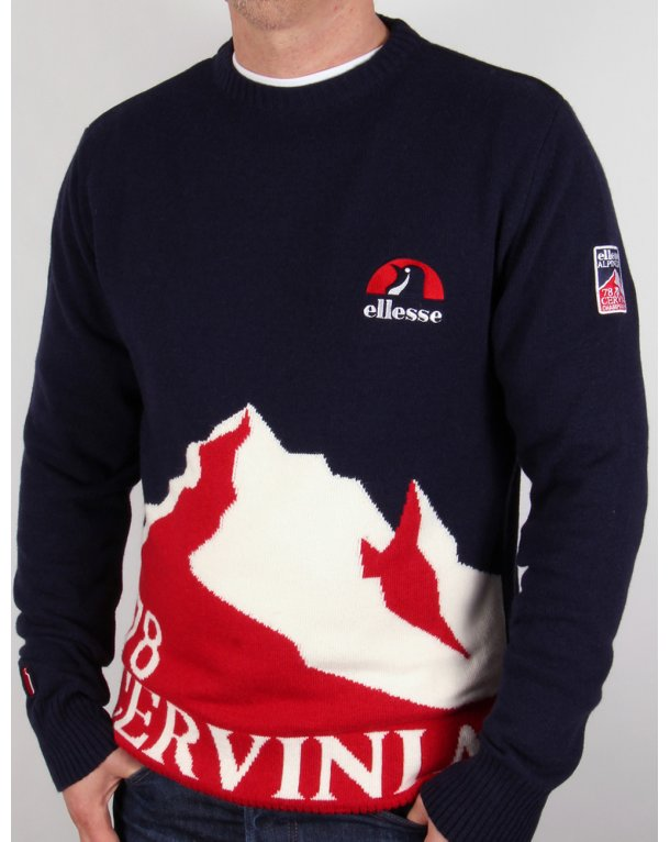 Ellesse Penguin Cervinia Jumper Navy