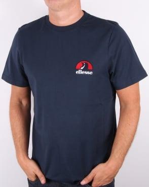 Ellesse Penguin chest logo T-shirt Navy