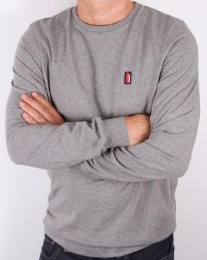 Ellesse Penguin Ettore Long Sleeve T-shirt Charcoal Marl