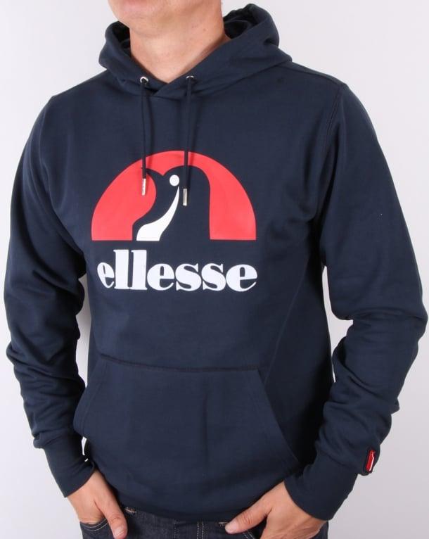Ellesse Penguin Logo Hoodie Navy
