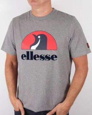Ellesse Penguin Logo T-shirt Charcoal Marl
