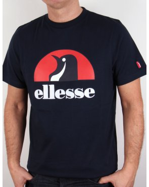 Ellesse Penguin Logo T-shirt Navy Blue