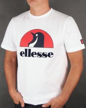 Ellesse Penguin Logo T-shirt White/red