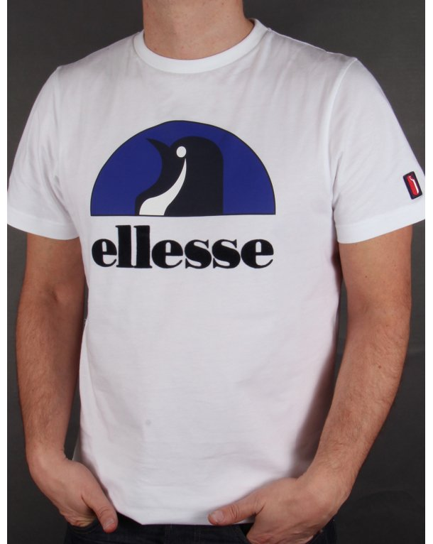 Ellesse Penguin Logo T-shirt White-Royal