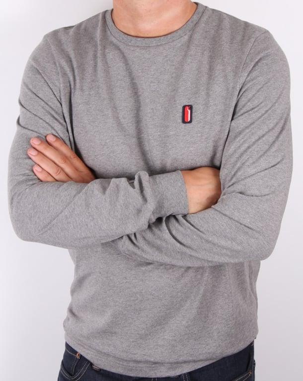 Ellesse Penguin Long Sleeve T-shirt Charcoal Marl