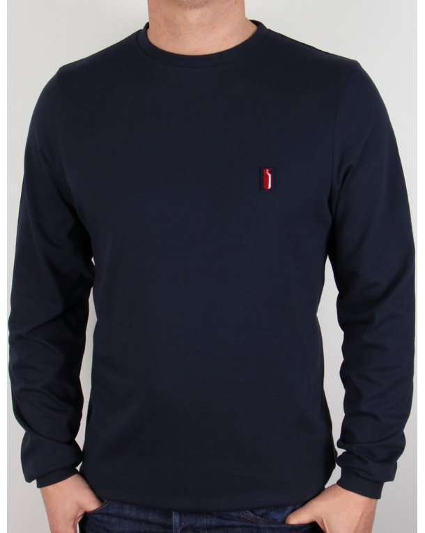 Ellesse Penguin Long Sleeve T-shirt Navy Blue