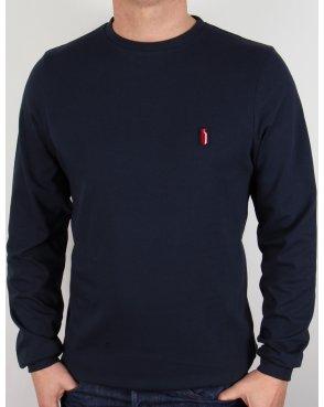 Ellesse Penguin Long Sleeve T-shirt Navy Blue