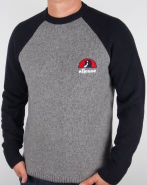 Ellesse Penguin Premium Jumper Grey / Navy