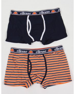 Ellesse Piota Boxer Shorts Twin Pack Navy/white