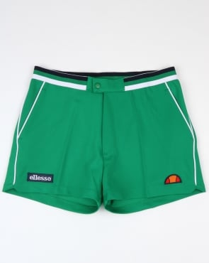 Ellesse Piped Tennis Style Shorts Green