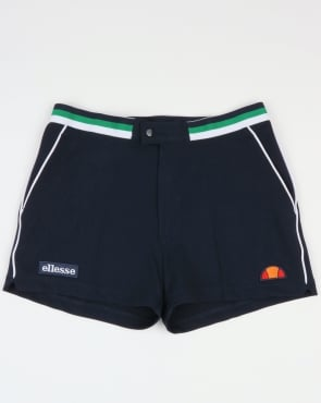 Ellesse Piped Tennis Style Shorts Navy