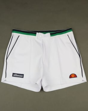 Ellesse Piped Tennis Style Shorts White