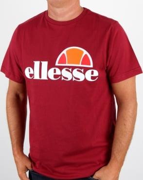 Ellesse Prado T Shirt Tibetan Red