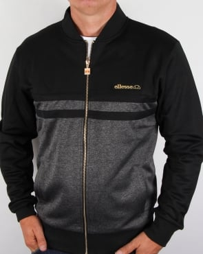 Ellesse Premium Track Top Black/ Silver Grey
