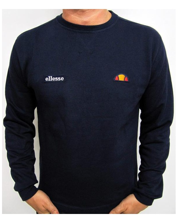 Ellesse Pro Dual Badge Sweatshirt Navy