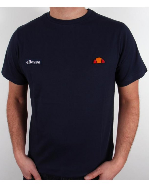 Ellesse Pro Dual Badge T-shirt Navy