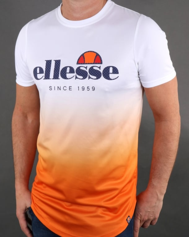 Ellesse Prua T Shirt Jaffa Orange