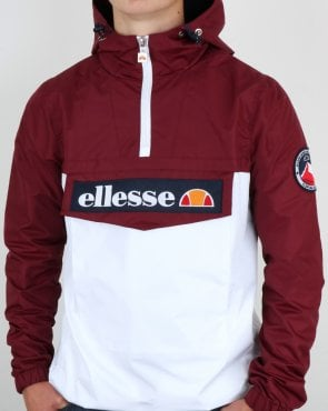 Ellesse Qtr Zip Dual Colour Jacket Burgundy-white