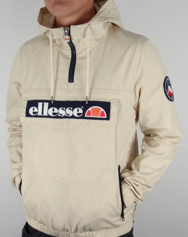 Ellesse QTR Zip Smock Jacket Light Stone