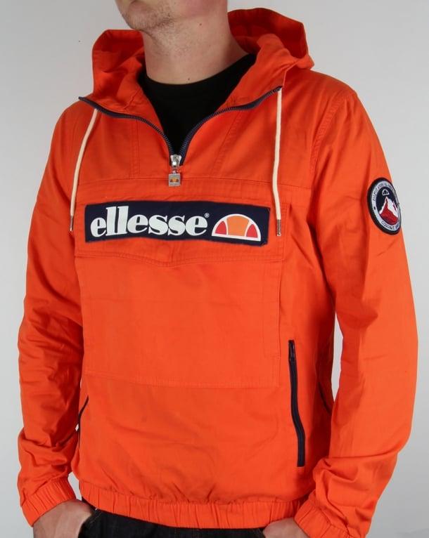 ellesse qtr zip smock jacket orangecoat ski mens cagoul. Black Bedroom Furniture Sets. Home Design Ideas