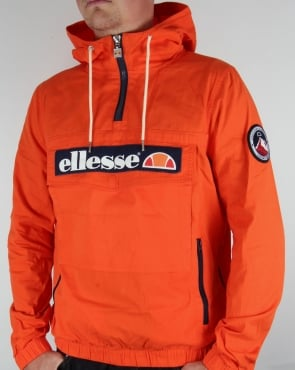 Ellesse QTR Zip Smock Jacket Orange