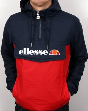 Ellesse Quarter Zip Logo Jacket Navy/Red