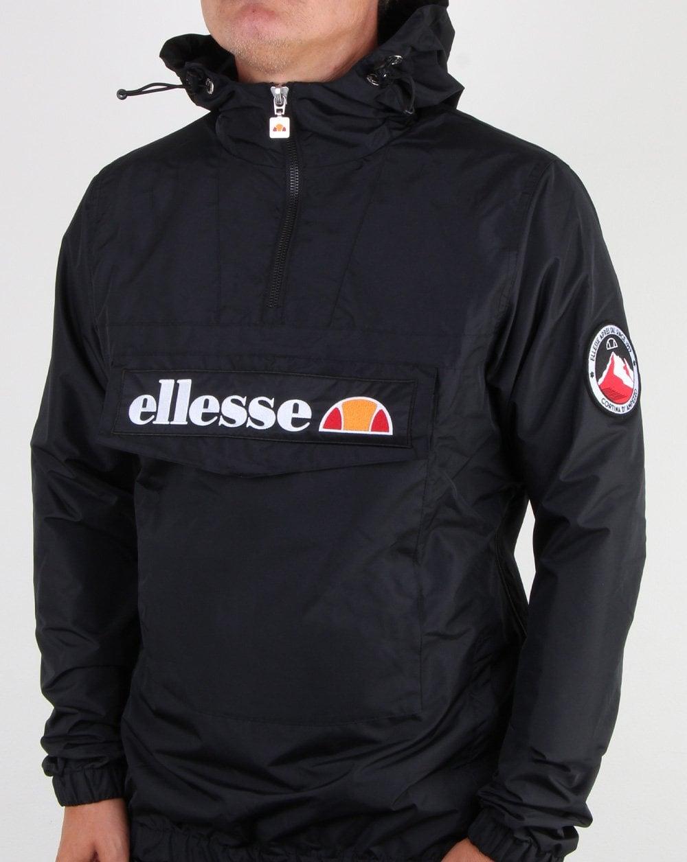 ef233e5395 Ellesse Quarter Zip Overhead Jacket Black