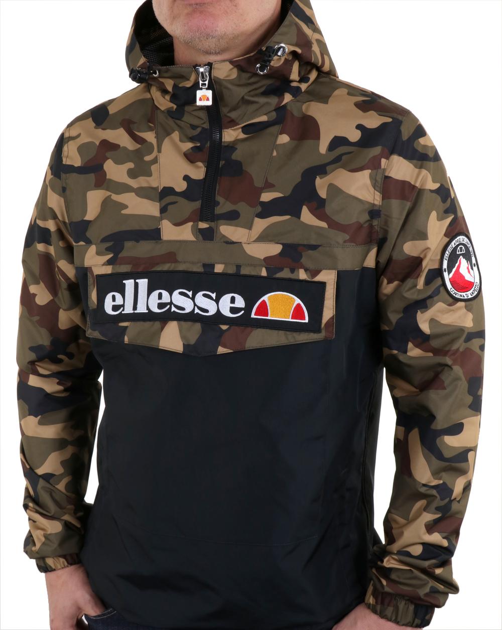 fc3d50e8e5 Ellesse Quarter Zip Overhead Jacket Camo