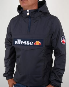 Ellesse Quarter Zip Overhead Jacket Charcoal