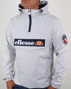 Ellesse Quarter Zip Overhead Jacket Light Grey