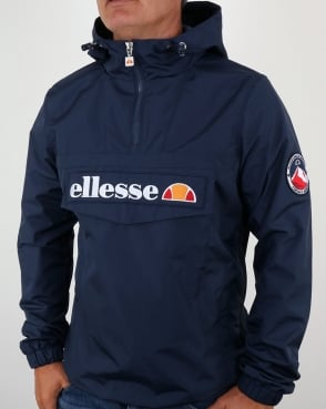Ellesse Quarter Zip Overhead Jacket Navy Blue