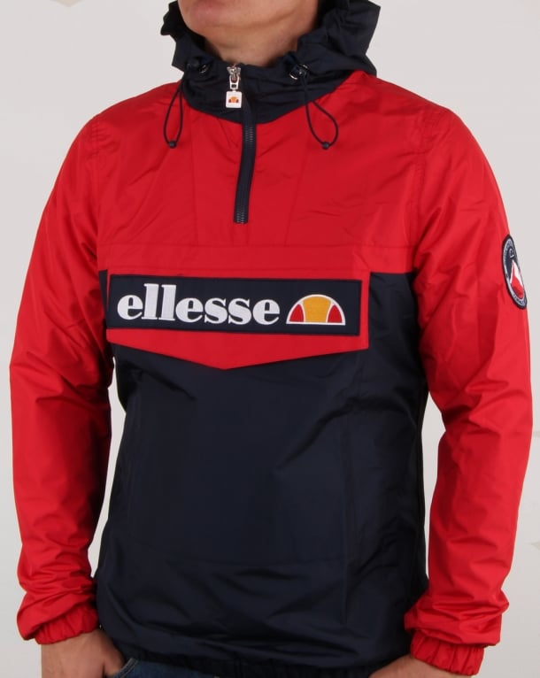 Ellesse Quarter Zip Overhead Jacket Navy/Red