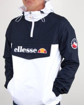 Ellesse Quarter Zip Overhead Jacket Navy/White