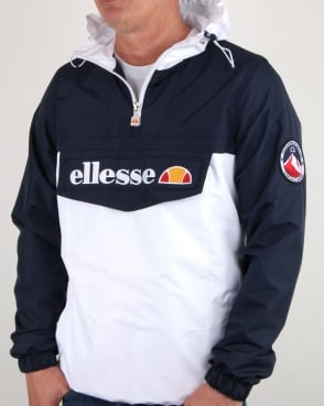 Ellesse Quarter Zip Overhead Jacket Navy/White
