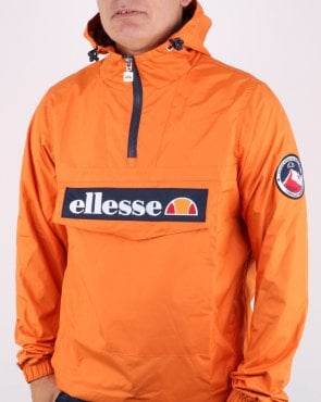 Ellesse Quarter Zip Overhead Jacket Orange
