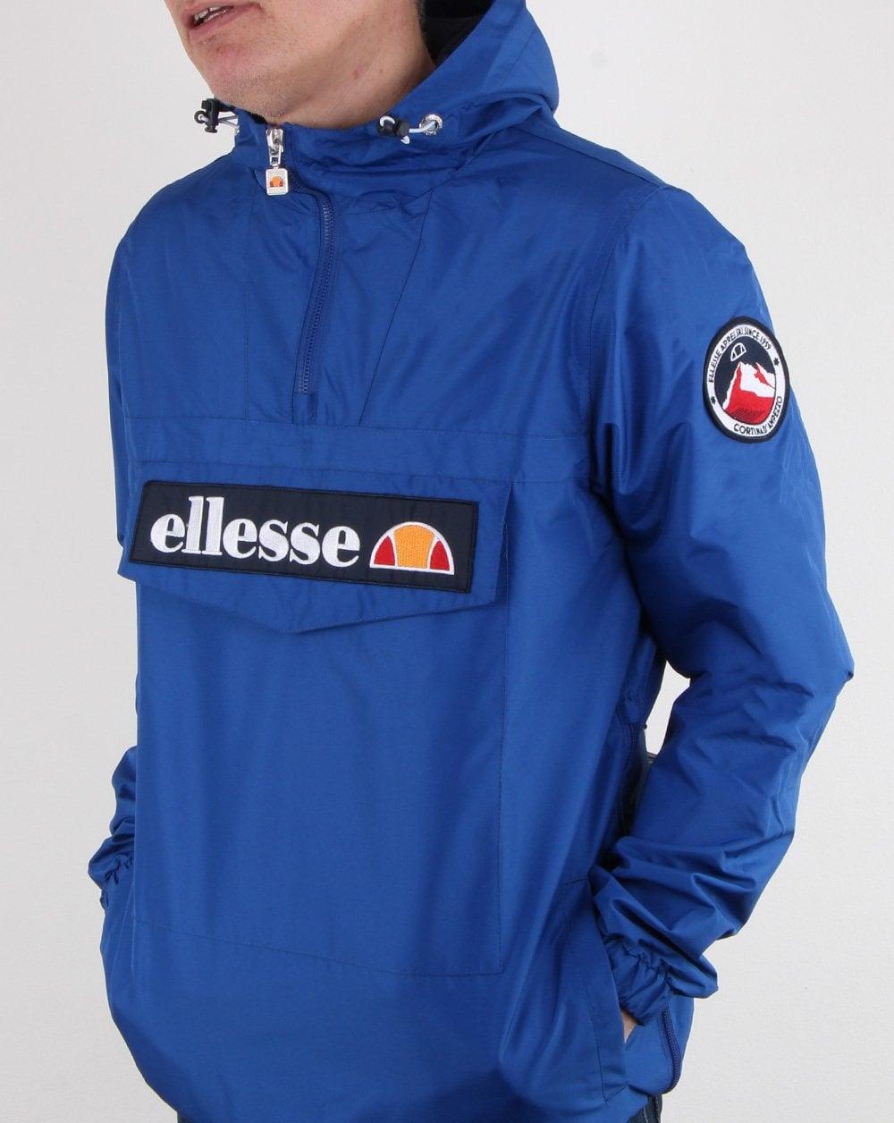 Ellesse Quarter Zip Overhead Jacket Royal Blue