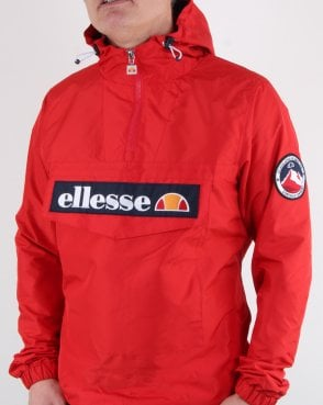 Ellesse Quarter Zip Overhead Jacket Scarlet Red
