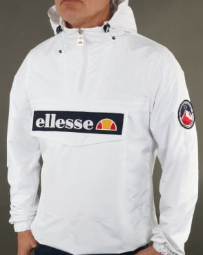 Ellesse Quarter Zip Overhead Jacket White