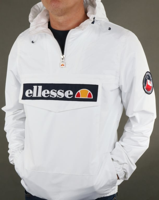 Ellesse Quarter Zip Overhead Jacket White