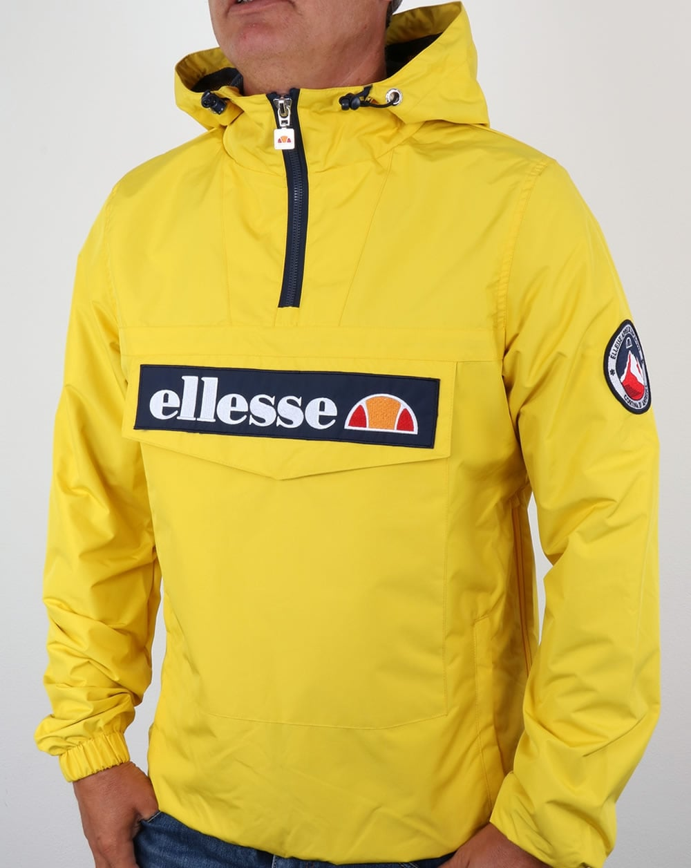 Ellesse Mont Ii Jacket Yellow Smock Coat Overhead Mens
