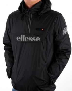 Ellesse Quarter Zip Overhead Rain Jacket Black