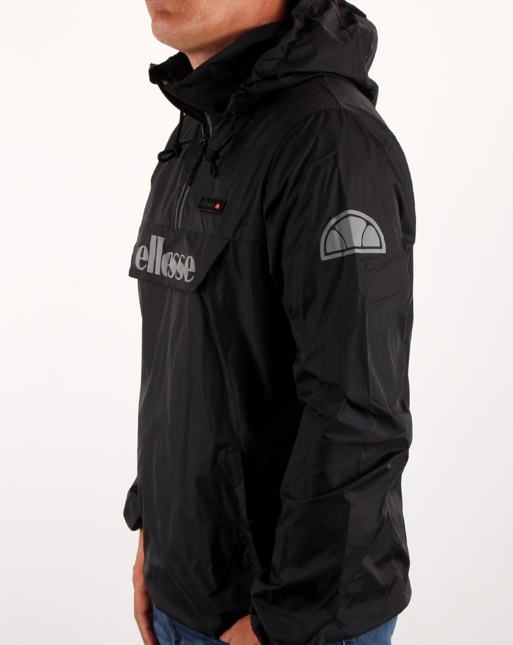 ellesse ion half zip jacket black men 39 s coat windrunner. Black Bedroom Furniture Sets. Home Design Ideas