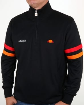 Ellesse Quarter Zip Roma Track Top Black