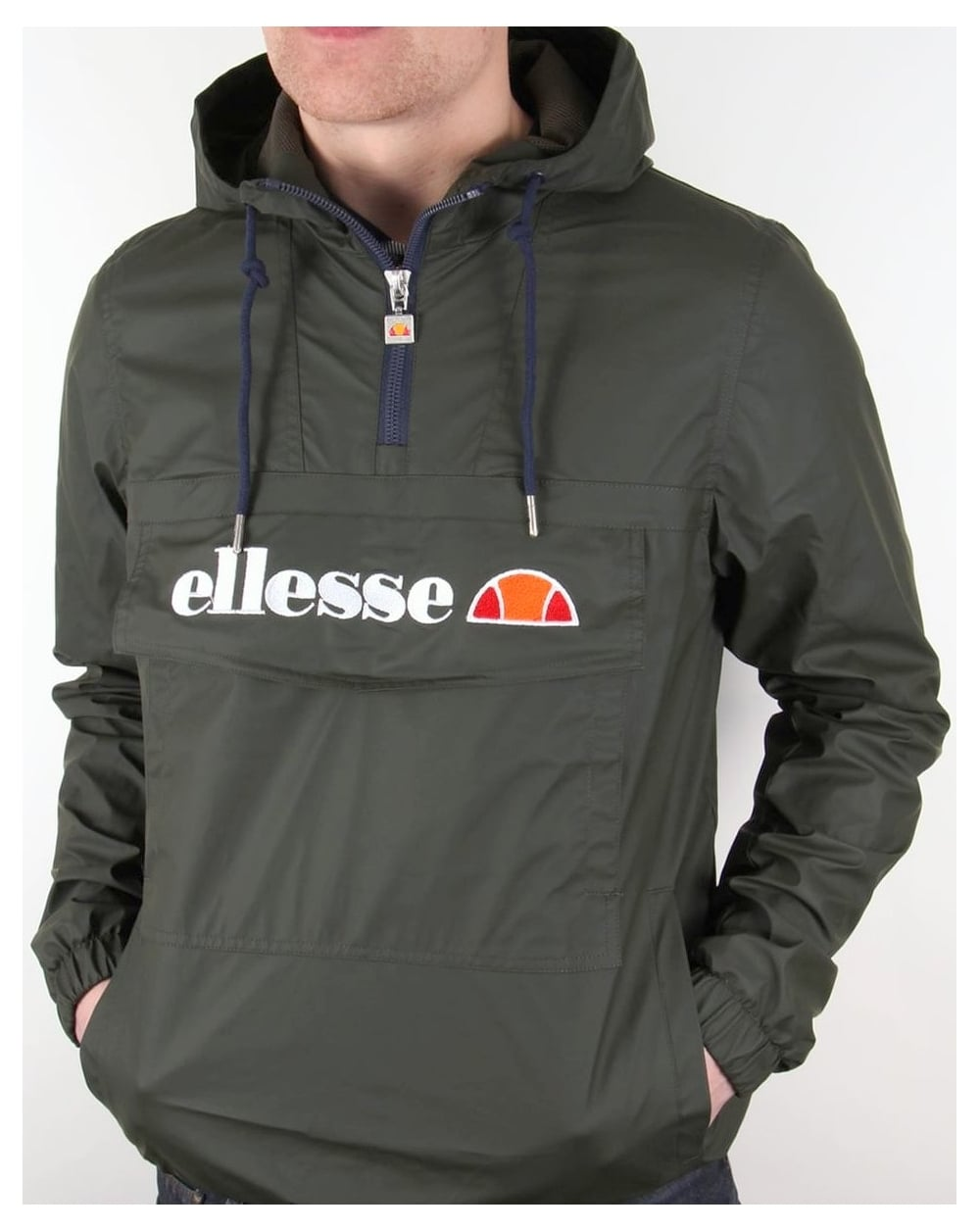 ellesse mont brava quarter zip jacket rosin green smock. Black Bedroom Furniture Sets. Home Design Ideas