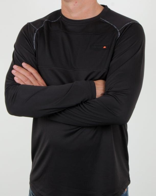 Ellesse Radiate Ls T Shirt Black