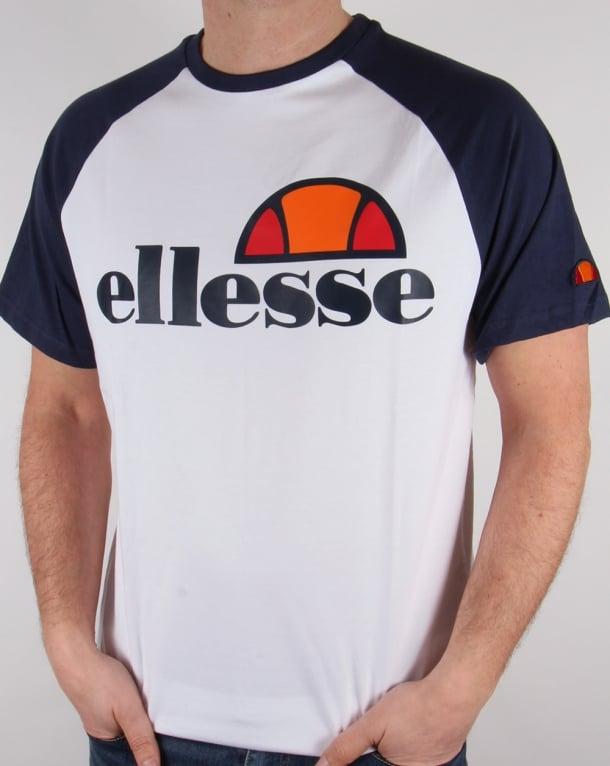 Ellesse Raglan T-shirt White/Navy